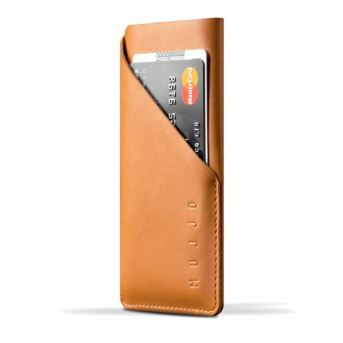 Leather Wallet Sleeve for iPhone 6(s) - Tan