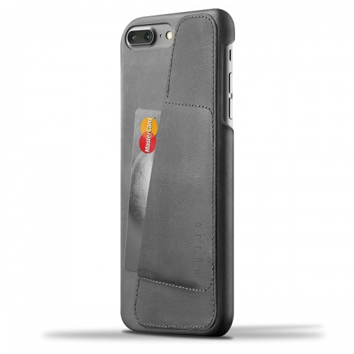 Leather Wallet Case for iPhone 7 Plus - Gray