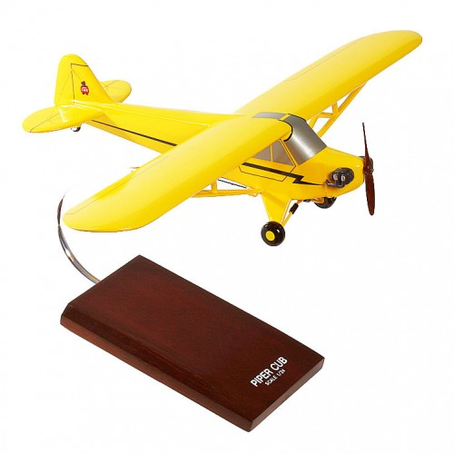 Piper J-3 Cub Model Scale:1/24 Mahogany Wood Model