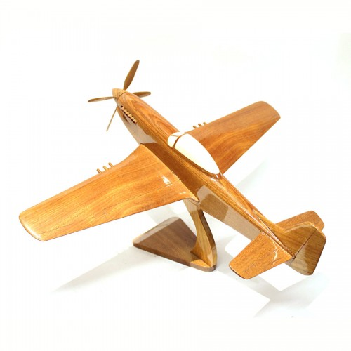 North American P-51 Mustang Fighter jet scale wooden model