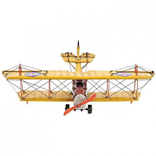 1918 Yellow Curtiss JN-4 1:24 Scale Model Plane