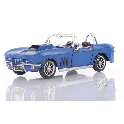 Blue Chevrolet Corvette - Scale Model