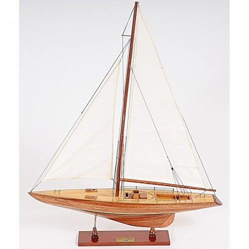 Columbia Sm | Yacht Sail Boats Sloop Wooden Model