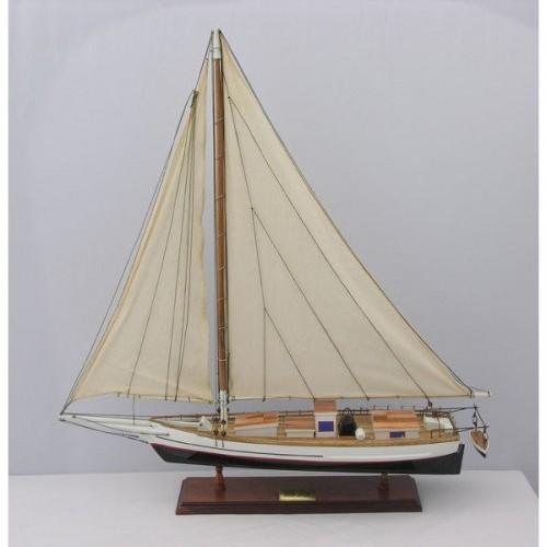 Skipjack Painted (L80) | Yacht Sail Boats Sloop Wooden Model