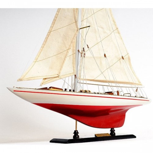 Endeavour Yacht Painted 24 | Yacht Sail Boats Sloop Wooden Model