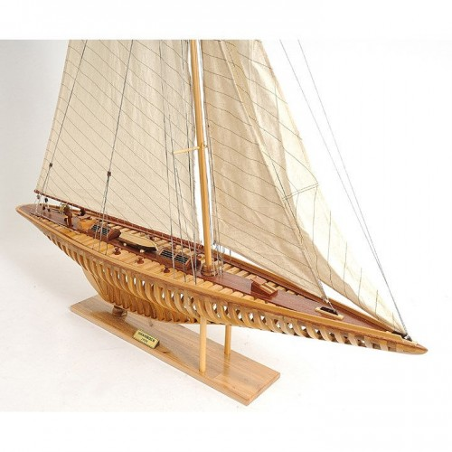Shamrock Open Hull | Yacht Sail Boats Sloop Wooden Model