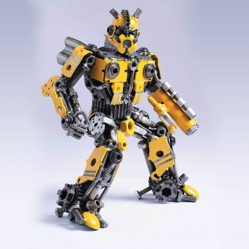 Transformers Bumblebee Mini Metal Sculpture