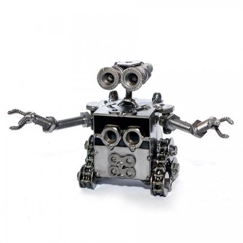 Wall E Robot (13cm) Recycled Metal Sculpture Model : Handmade