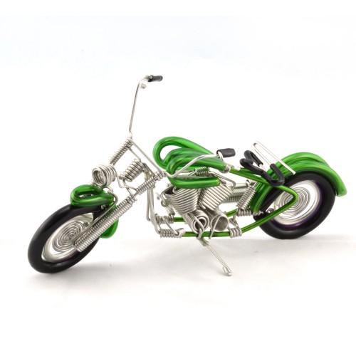 Handmade Motorcycle Aluminium Wire Art Gren 6 inches