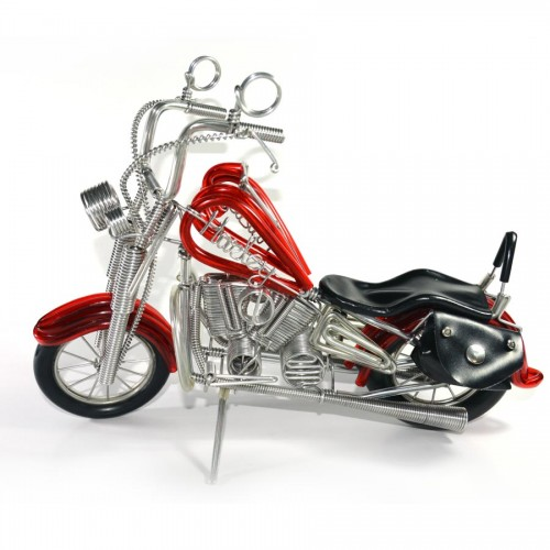 Handmade HARLEY DAVIDSON , Aluminium Wire Art Sculpture Motorcycle