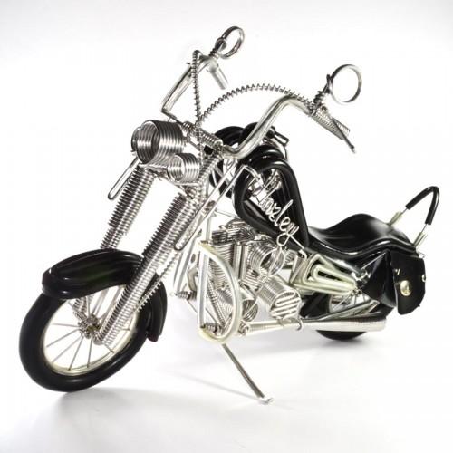 Wire Art Harley-Davidson, Handmade Aluminium Wire Art Sculpture Motorcycle (Black)
