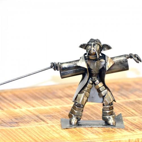 Yoda Star War Metal Sculpture - Recycled Scrap Metal Sculpture Handmade