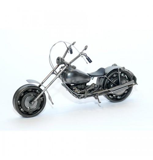 Harley Davidson : Motorcycle Model 30cm Metal Sculpture - Gray Medium