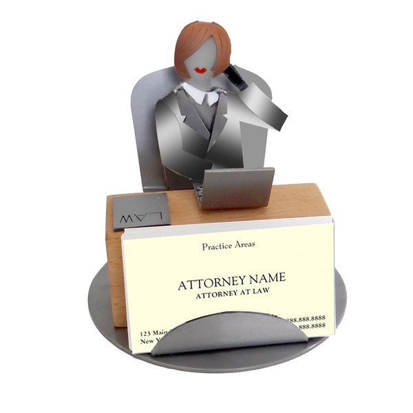 Attorney female business card holder colourmoves