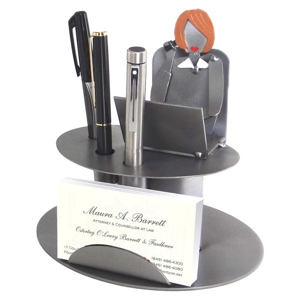 Desk accessory female executive business card holder colourmoves