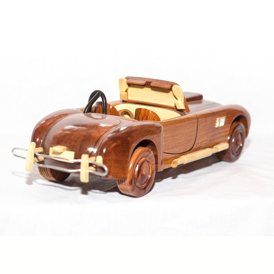 1965 shelby cobra wooden car scale model hand carved