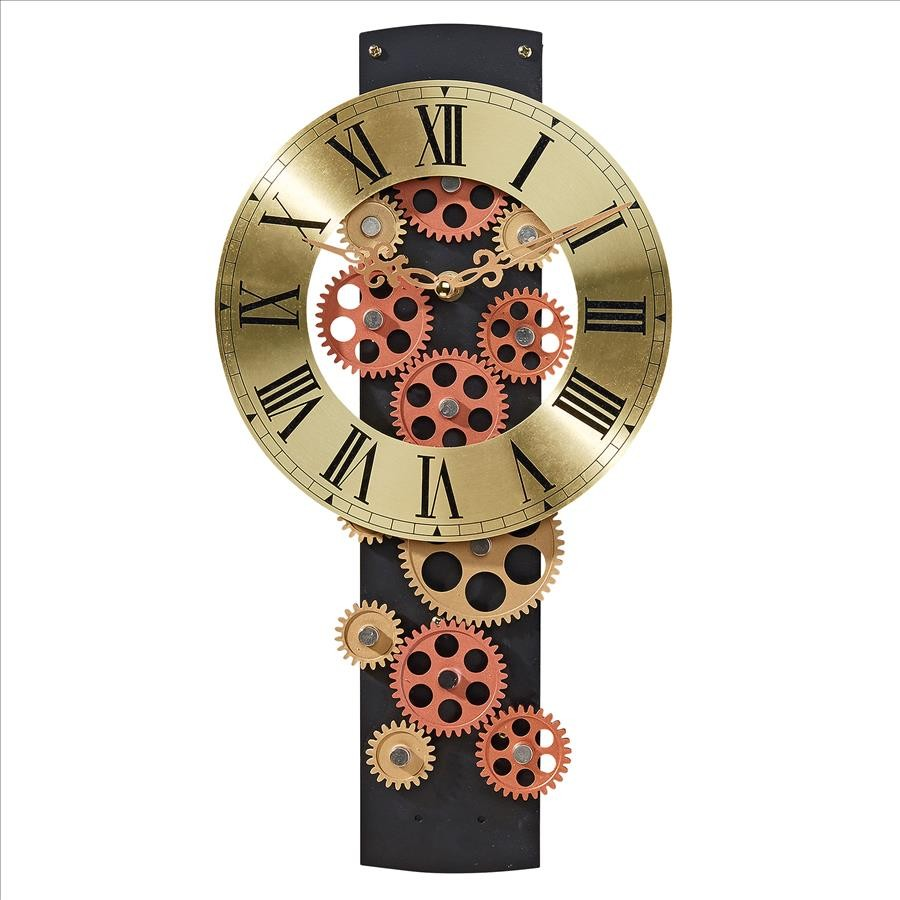 cogs and gears mechanical wall clock clock gift