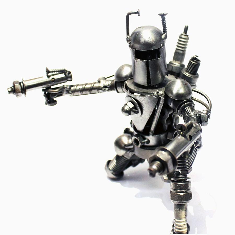 Look Alike Boba Fett Metal Sculpture