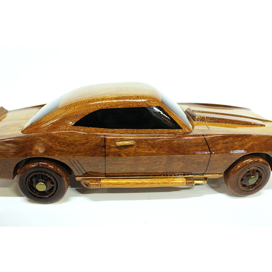 Chevrolet Camaro Wood Car Model Wooden Hand Carved Car