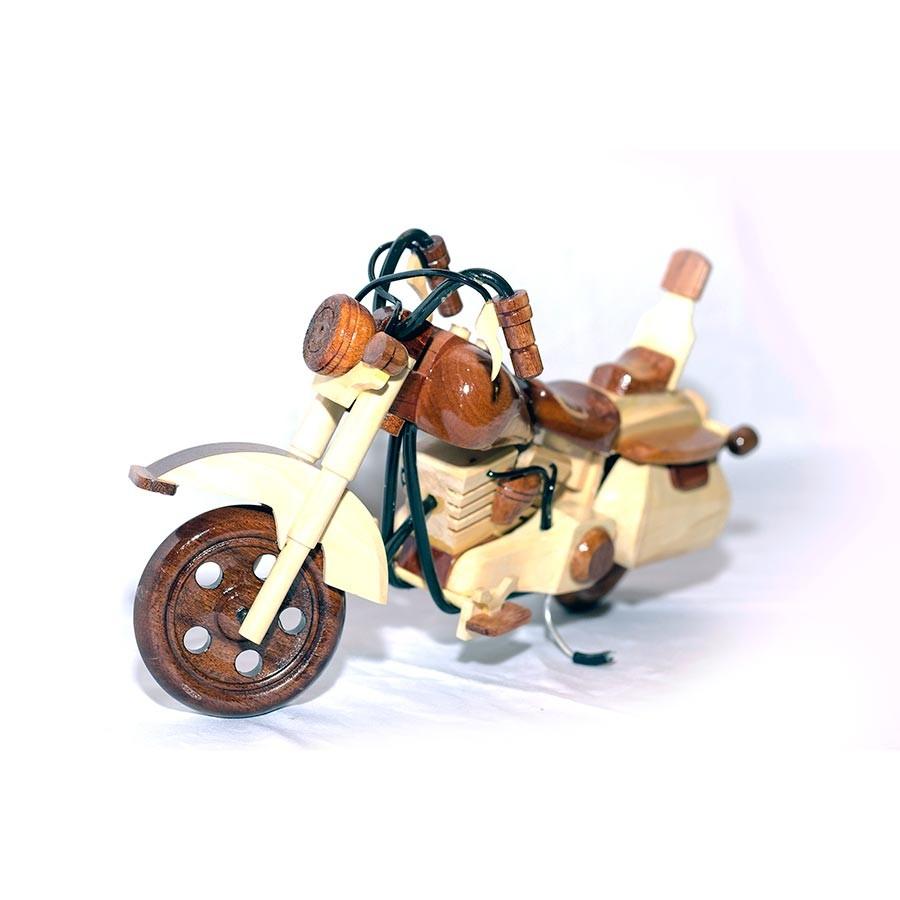 Harley Davidson Wooden Motorcycle Model Desk 2 Colors