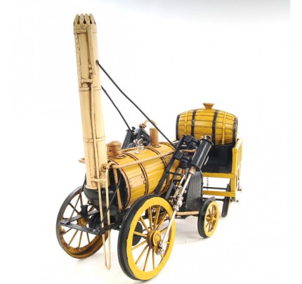 Handcraft Iron frame 1829 Yellow Stephenson Rocket Steam Locomotive