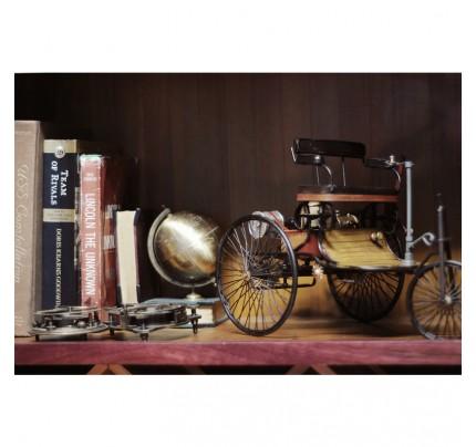 1886 Yellow & Black Mercedes Benz Car Model 1 Three Wheeled German Car