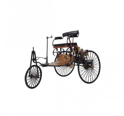 1886 Yellow & Black Mercedes Benz Car Model 1 Three Wheeled German Car