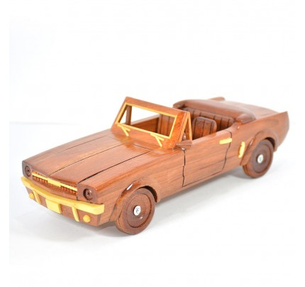 1964 1/2 1964.5 Ford Mustang Convertible Mahogany Wooen Car Model