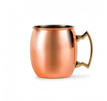 Circle Monogram Moscow Personalized Copper Mule Mug