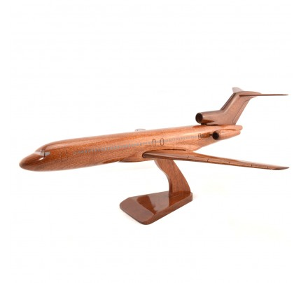 Boeing 727 Solid Mahogany Wooden Airplane model for Aircraft Lovers