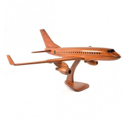 Boeing 737 wooden airplane kiln-dried mahogany replica