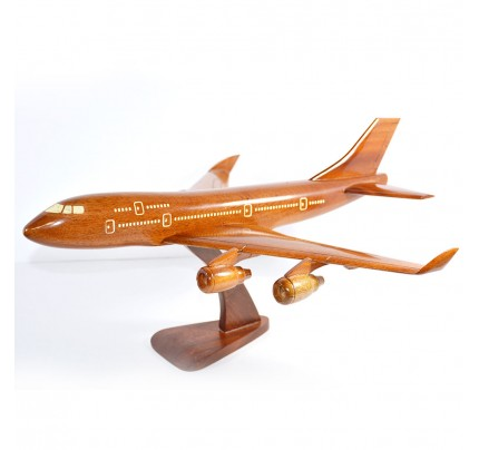 Boeing 747 wooden airplane kiln-dried mahogany