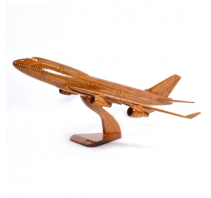 Boeing 747 Solid Mahogany wooden airplane model (small)