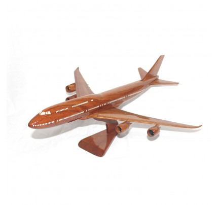 Boeing 747 airplane model (Big) - Solid Mahogany Wooden Airplane