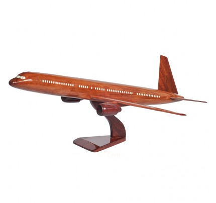 Boeing 757 Solid Mahogany Wooden Airplane Model