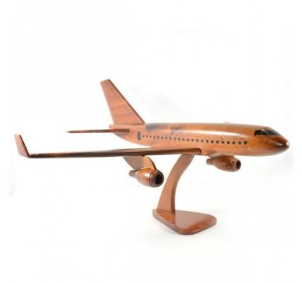 Boeing 757 wooden airplane kiln-dried mahogany - black windows