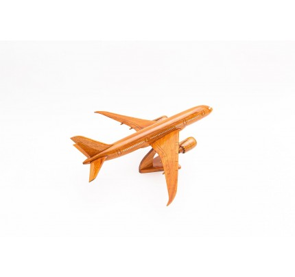 Boeing 787 Solid Mahogany wooden airplane model (small)