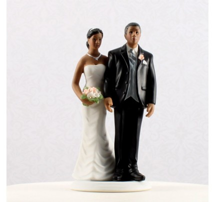 The Love Pinch Bridal Couple Figurine Couple Wedding cake topper