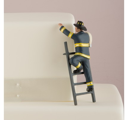To The Rescue! - Fireman Groom Figurine - Wedding Cake Topper