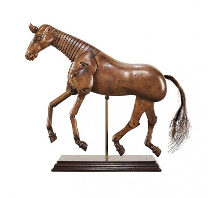 Artist Horse Figurine - Articulated Wood Model