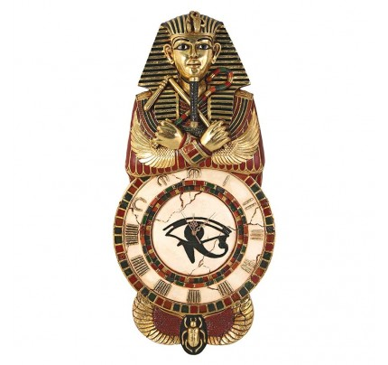 Medinet Habu Egyptian Wall Clock