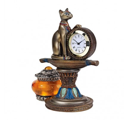 Bastets Egyptian Altar Clock
