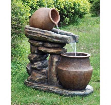 Villa Oliviero Cascading Garden Fountain