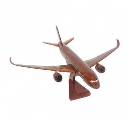Airbus A350 Wooden Airplane Model - Mahogany Wooden