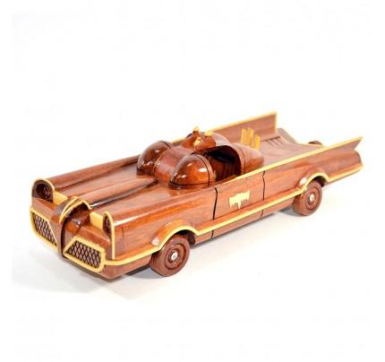 Authentic 1966 Batman's Batmobile Wooden Car Model
