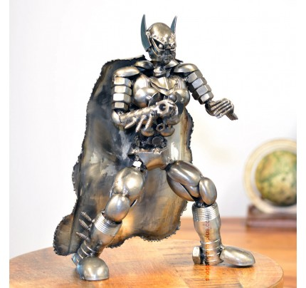 Batman Metal Sculpture - Marvel Warrior Model Recycled Metal Handmade