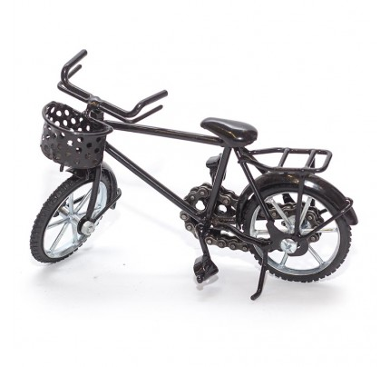 Boy Bicycle Sculpture Model Metal Art - (BIC02) gift for cyclist