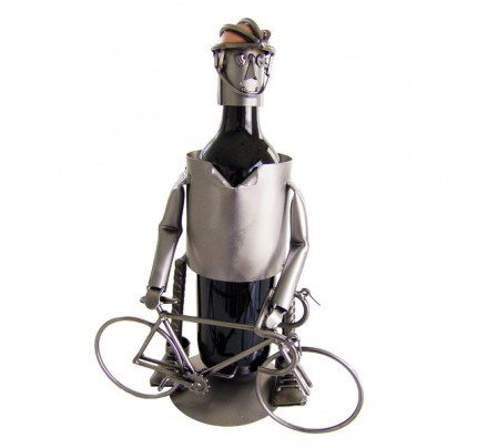 Bicycle Rider Male 1 Bottle Tabletop Wine Rack