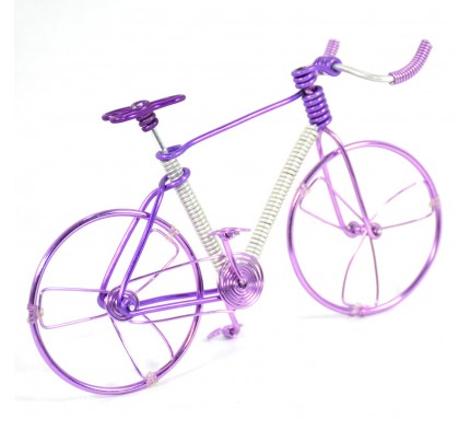 Girls Mountain Bike - Wire Bicycle Sculpture