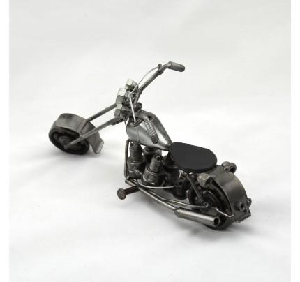Harley Davidson : Motorcycle Model Metal Sculpture - Silver
